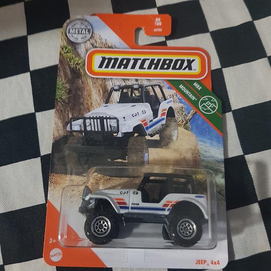 Matchbox Mountain CJ7 Jeep 4x4 White