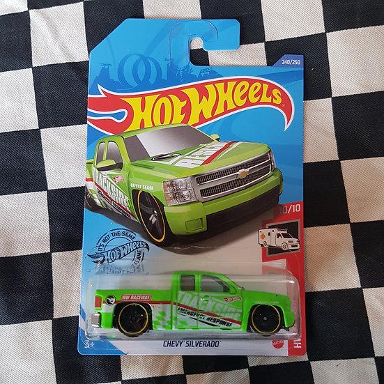 Hot Wheels 2020 Rescue TREASURE HUNT Chevy Silverado Green