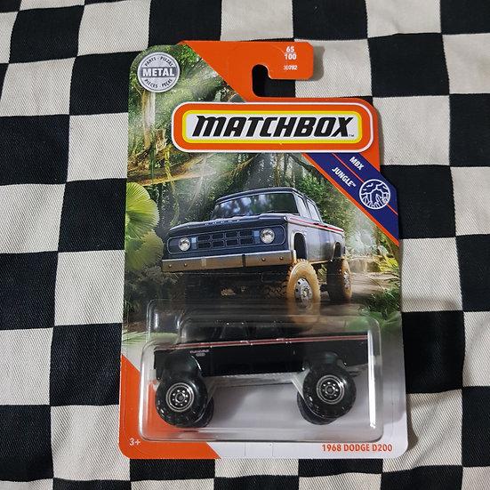 Matchbox Mbx Jungle 1968 Dodge D200 Pickup Black