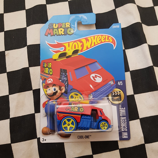 Hot Wheels 2015 Screen Time SUPER MARIO Cool One Van