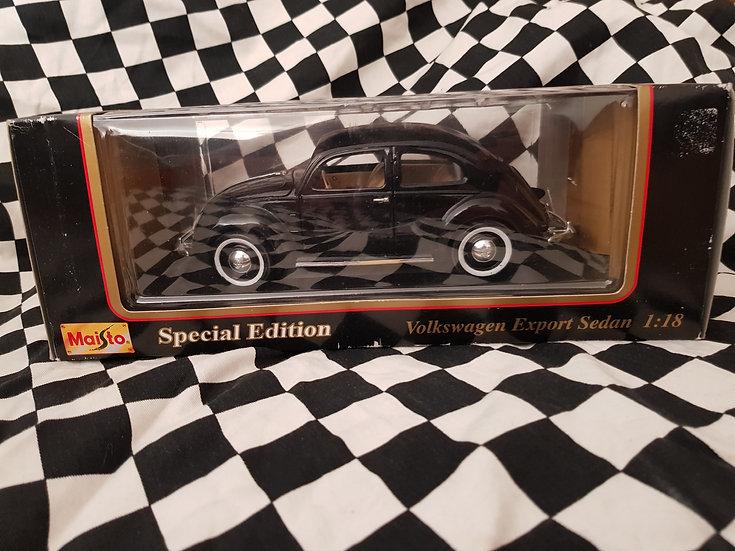 Maisto 1:18 1951 Volkswagen Beetle Black