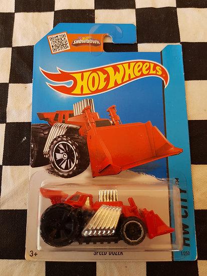 HOTWHEELS ERROR Speed Dozer ( black back wheel)