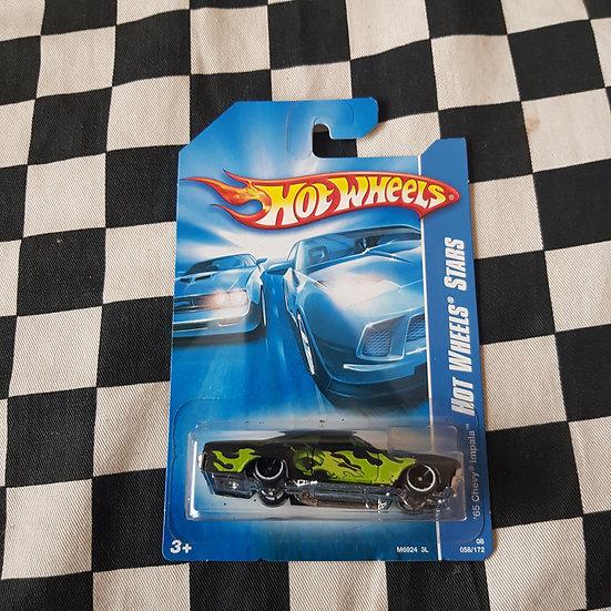Hot Wheels 2008 Stars 1965 Chevy Impala Black Long Card