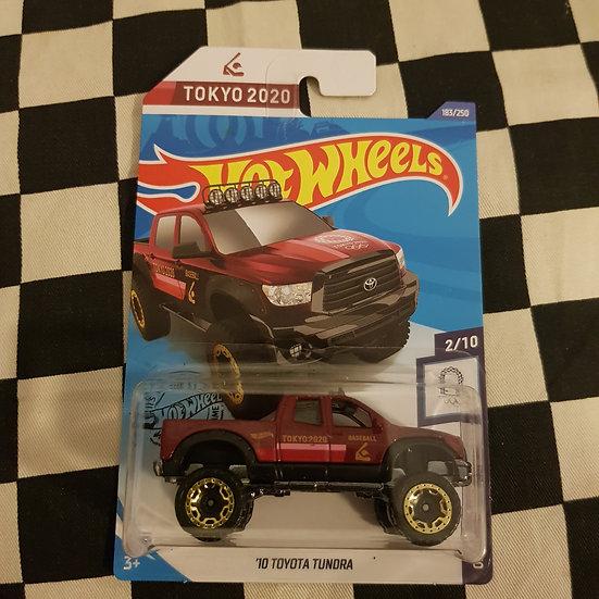 Hot Wheels 2020 Olympic Games Tokyo 10 Toyota Tundra  Pickup Truck Maroon