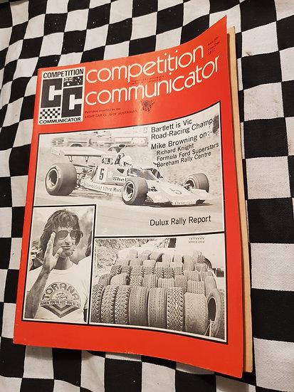 Competition Communicator Vol 1 #3 Nov Dec 1972 race programme
