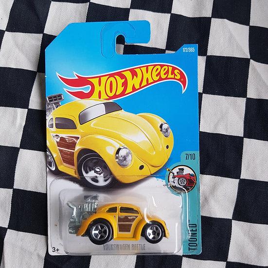 Hot Wheels 2015 Tooned Volkswagen Beetle Yellow