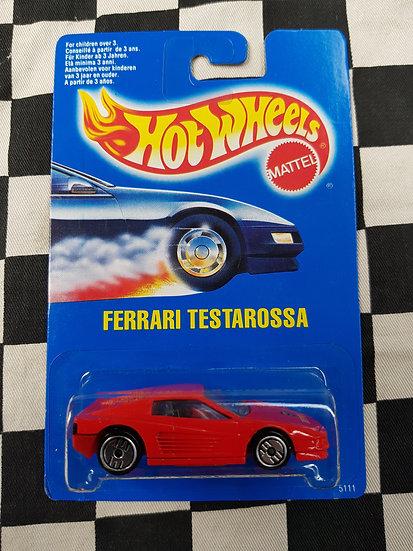 Hot Wheels 1991 Blue Card Ferrari Testarossa Red