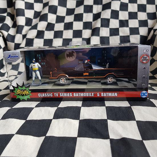Jada 1:32 Classic Tv Batmobile with Batman Barris