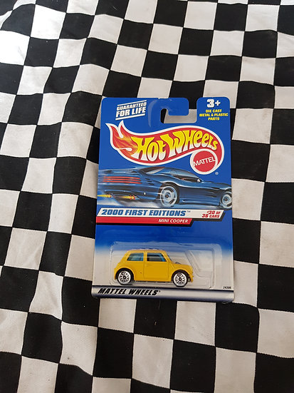 Hot Wheels 2000 First Editions Yellow Mini Cooper