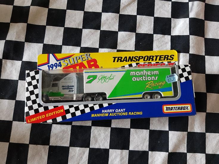 Matchbox 94 Superstars Manheim Auctions Racing team Transporter Truck