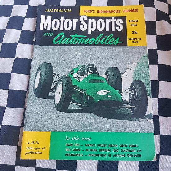 Australian Motor Sports & Automobiles Aug 63