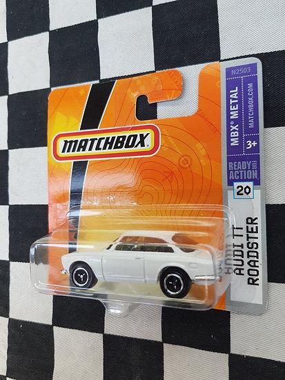 Matchbox ERROR WRONG CARD Alfa Romeo on Audi TT Roadster Card 2007
