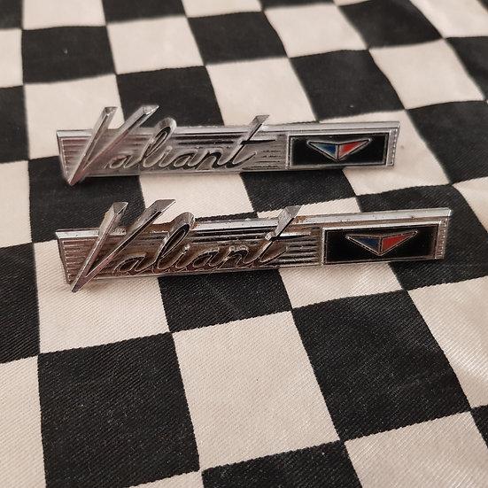 Original Pair Valiant Badges