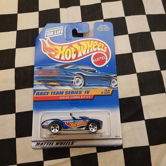 Hot Wheels 1997 Shelby Cobra 427 s/c Race Team Series IV