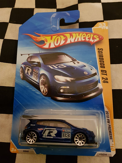 Hot Wheels 2010 First Edition VW Scirocco GT 24