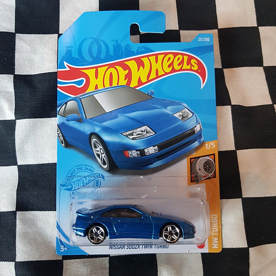 Hot Wheels 2020 Turbo Nissan 300ZX Twin Turbo Blue