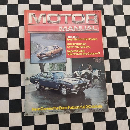 Motor Manual Magazine Sept 1976 HX GTS XC GXL