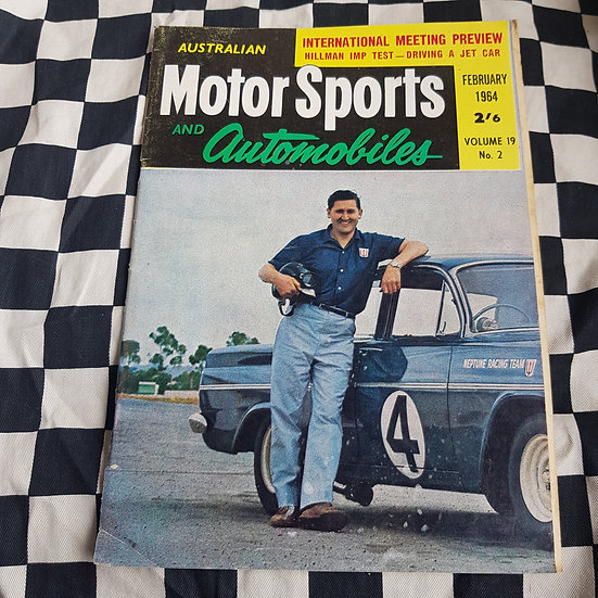 Australian Motor Sports & Automobiles FEB 64 Norm Beechey EH Holden