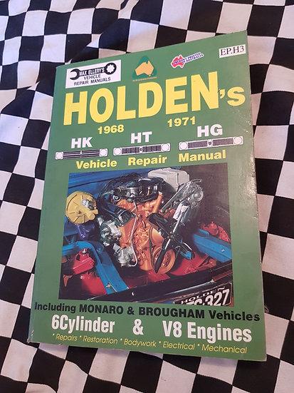 HOLDEN HK HT HG MONARO GTS BROUGHAM PREMIER 6CYL & V8 Workshop manual