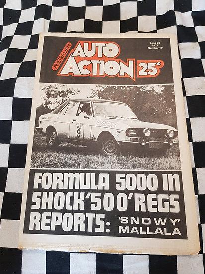 Australian Auto Action Magazine #10 June 25 1971