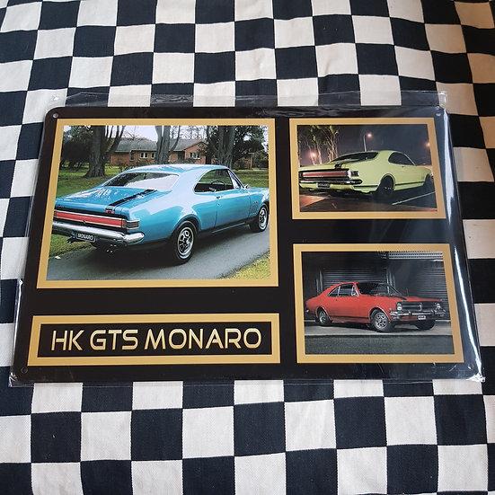 Tin Sign Repro 20x30 HK Gts Monaro