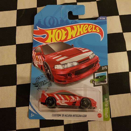 Hot Wheels 2020 Speed Blur Custom 01 Acura Integra GSR Red