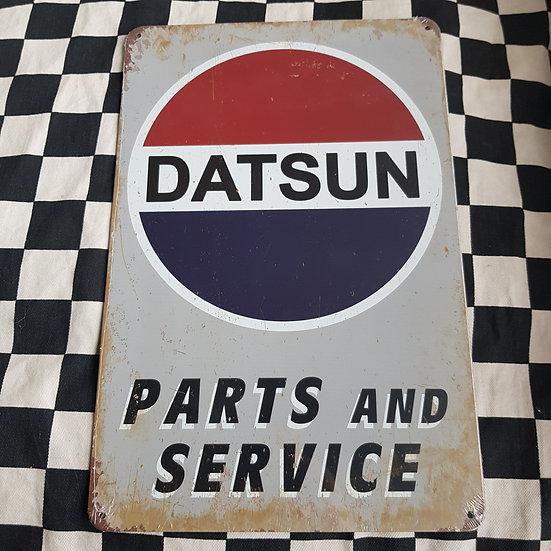 Tin Sign Repro 20x30 Datsun Parts & Service