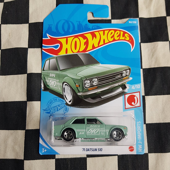 Hot Wheels 2021 J Imports 71 Datsun 510 Green