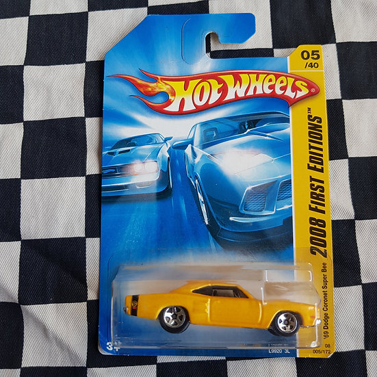 Hot Wheels 2008 First Edition 69 Dodge Coronet Super Bee Yellow