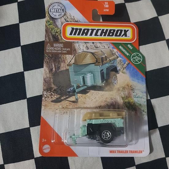 Matchbox Trailer Trawler Camping  Green