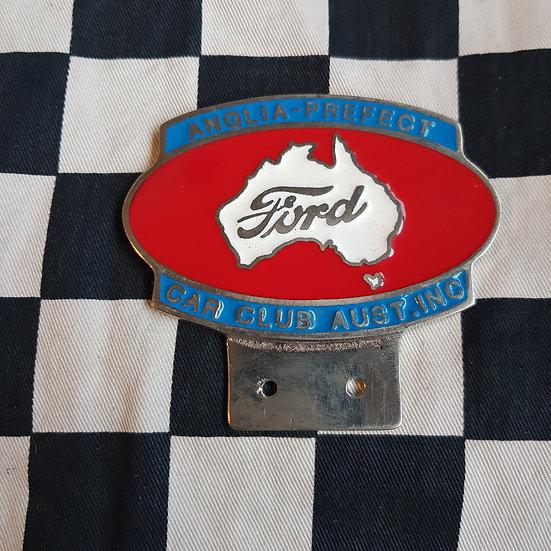 Ford Anglia Prefect Club of Australia Grille/Bumper  Plaque/ Badge
