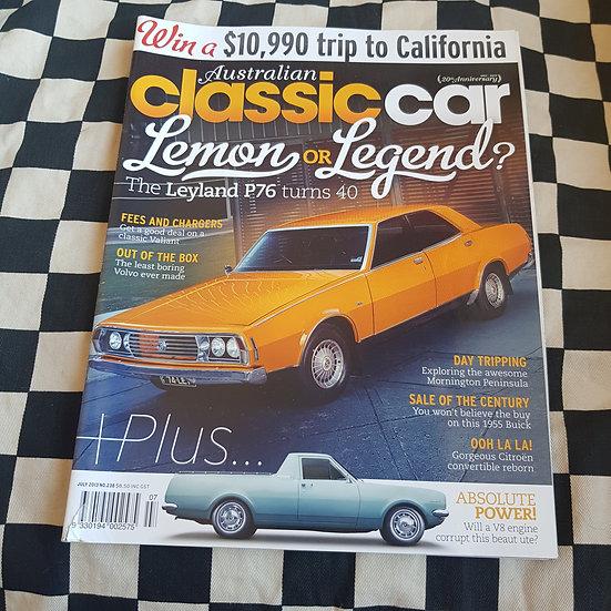 Australian Classic Car Magazine #238 P76