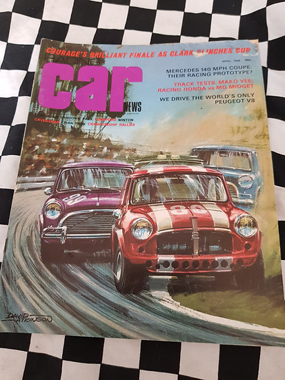 RACING CAR NEWS 4/68 Mini
