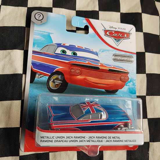 Disney Pixar Cars CHASE Metallic Union Jack Ramone