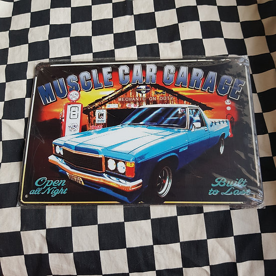 Tin Sign Repro 20x30 Muscle Car Garage Holden Ute