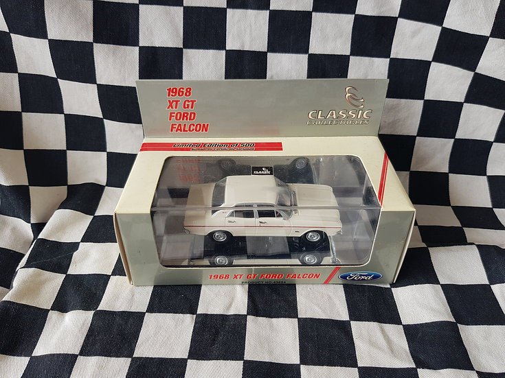 1 of ONLY 500 Classic Carlectables 1:43 1968 XT GT Falcon Polar White 43624