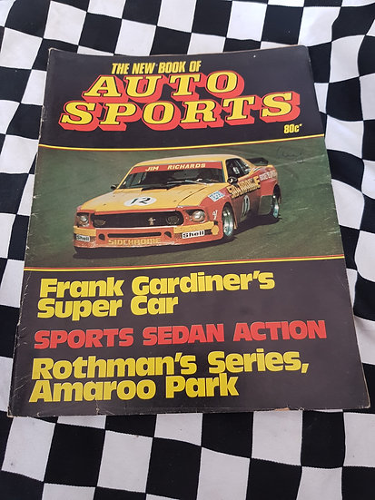 The New Book of AUTO SPORTS (aprox 1975) magazine