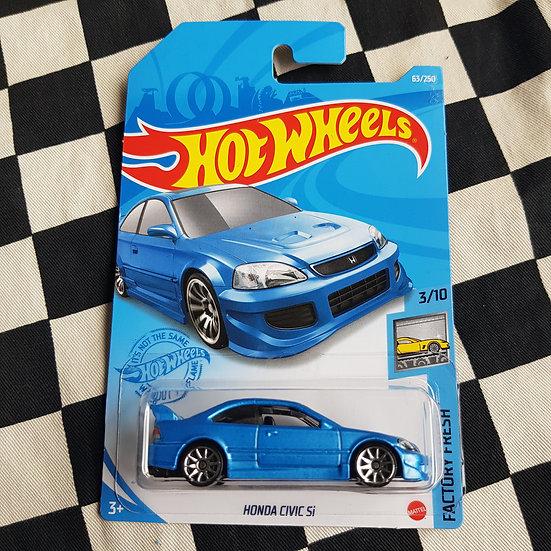Hot Wheels 2021 Factory Fresh Honda Civic Si Blue
