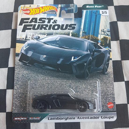 Hot Wheels Premium Fast & Furious Euro Fast Lamborghini Aventador Coupe