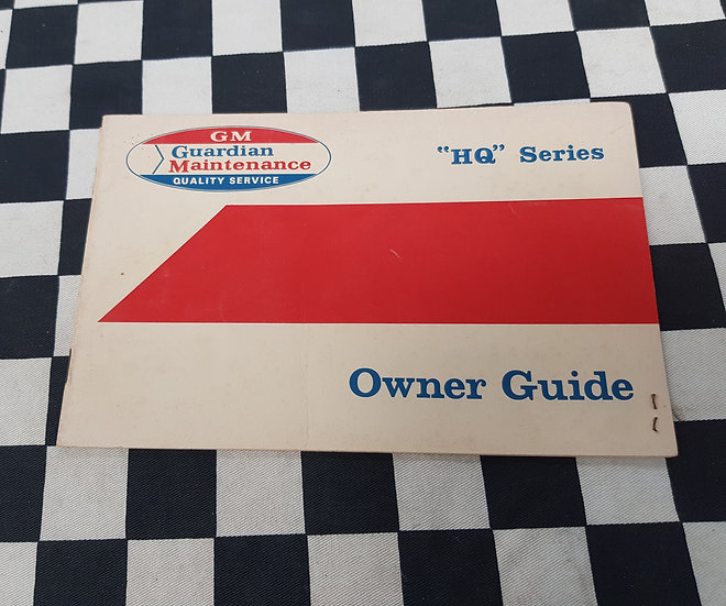 HQ Holden Owners Guide Service Book