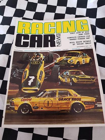 RACING CAR NEWS 9/72