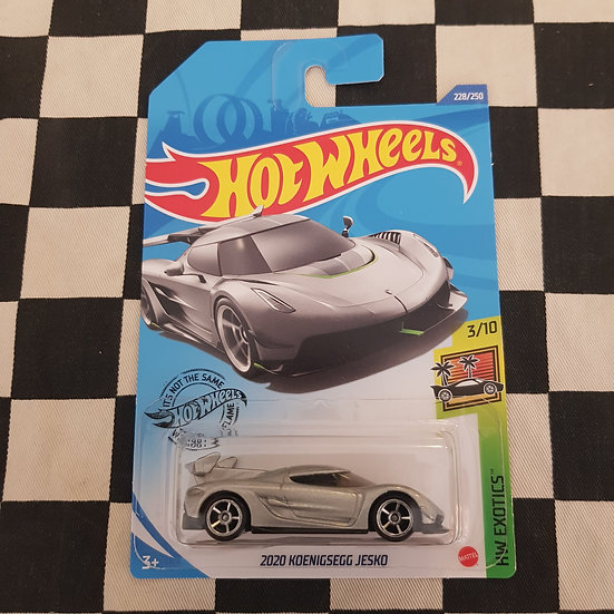 Hot Wheels 2020 Exotics 2020 Keonigsegg Jesko Silver