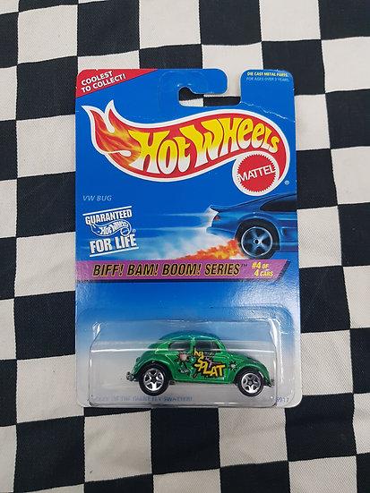 Hot Wheels 1996 Biff Bam Boom Series VW Bug Green
