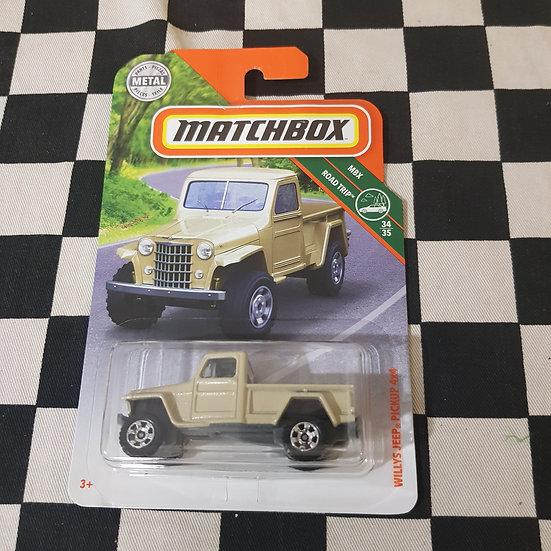 Matchbox MBX Willys Jeep Pickup 4x4 Cream