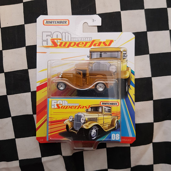Matchbox Superfast 50th Anniversary 32 Ford Pickup Gold