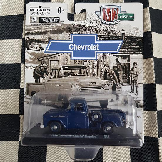 M2 Machines 1;64 Auto-Drivers Chevrolet 1958 Apache Stepside