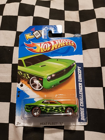 Hot Wheels 2012 Heat Fleat Dodge Challenger Concept REDLINE Variation