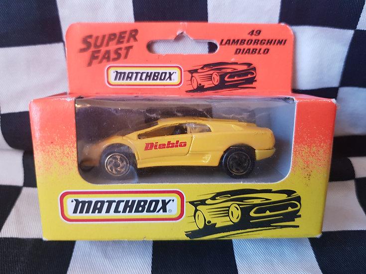 Matchbox #49 Lamborghini Diablo Yellow Boxed