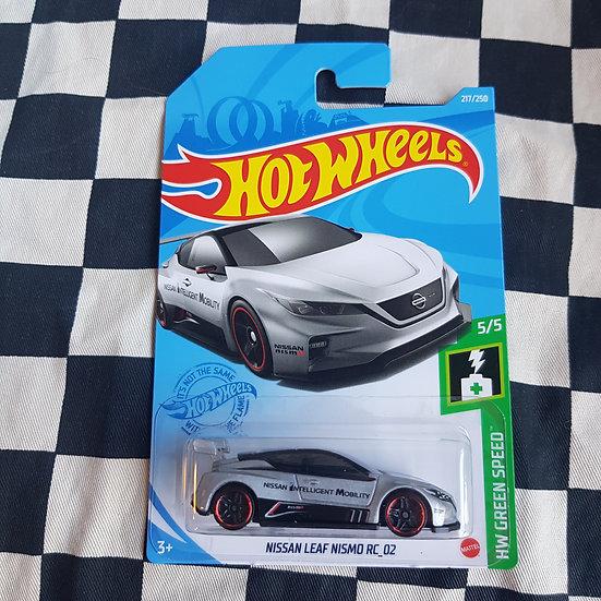 Hot Wheels 2021 Green Speed Nissan Leaf Nismo RC 02