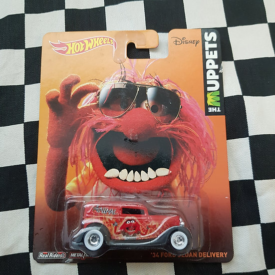 Hot Wheels Premium The Muppets Animal 34 Ford sedan delivery